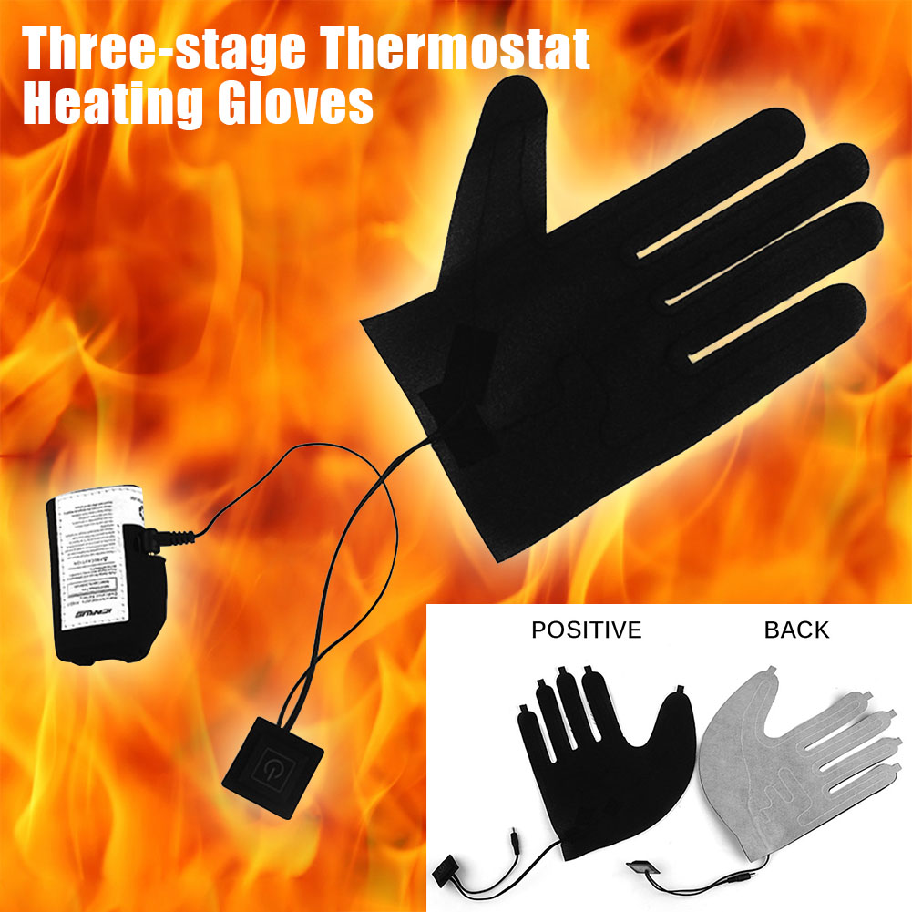 Accessories Gear 7.4V Foldable Portable Adjustable Winter 3 Speed Warmer Fingers Outdoor Gloves Heated Pads Electric Thermal