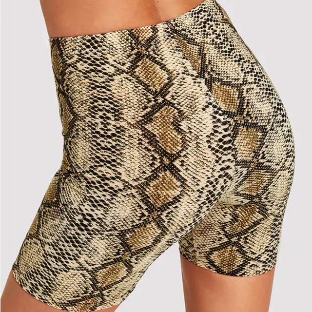 Fashion Leopard Print Women Shorts Casual Snake Print Fitness Short For Lady Women High Waist Casual Biker short femme 6