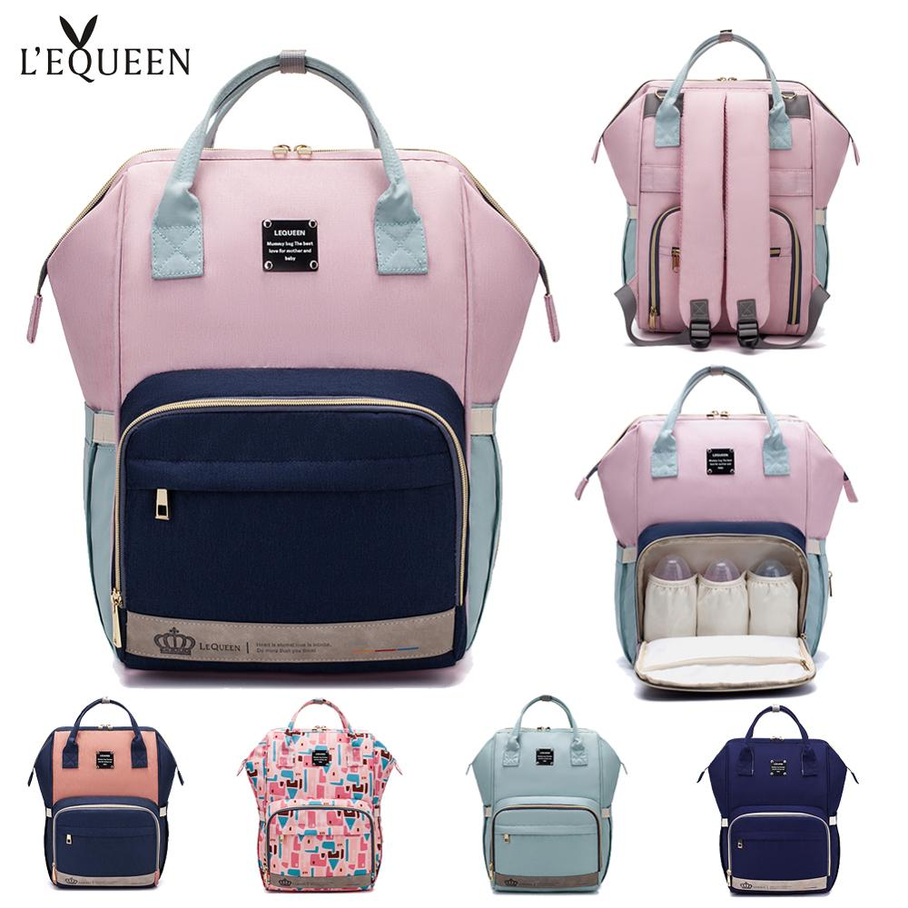 LEQUEEN Mummy Large Capacity Bag Nappy Backpack Bag Baby Multi-function For Baby Care  Travel Diaper Bags Waterproof Outdoor Mom