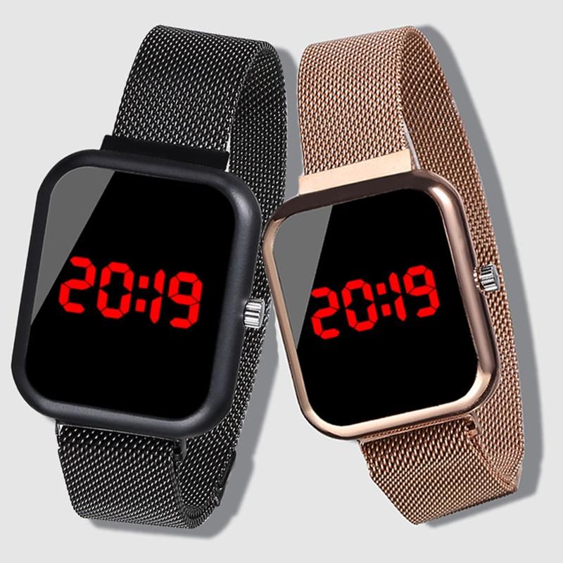 High Quality 2019 Digital Clock Kids Watches Stainless Steel Watch Children Led Watch Electronic Wrist Watches Girls Wristwatch