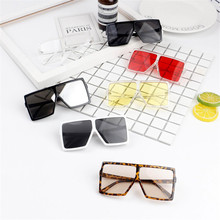 Sunglasses Safety-Goggles Children Uv400 Fashion Shades Oversized Square Outdoor Sweet