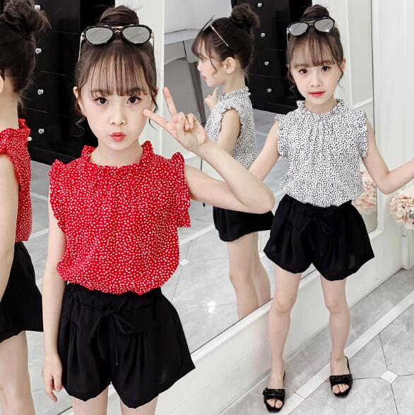 Baby Girls Clothing Sets Summer Fashion Sleeveless Tops & Shorts Kids Clothes Suits 4 5 6 7 8 9 10 11 12 Years Children Outfits