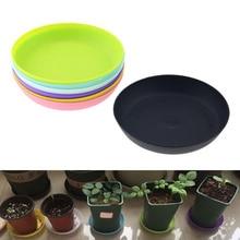 20*70 мм круглый пластиковый цветочный горшок поднос красочное прочное растение из смолы цветочный горшок блеск плантатор украшение дома и сада