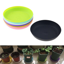 20*70mm Round Plastic Flower Pot Tray Colorful Durable Resin Plant Flower Pot Gloss Planter Home Garden Decoration