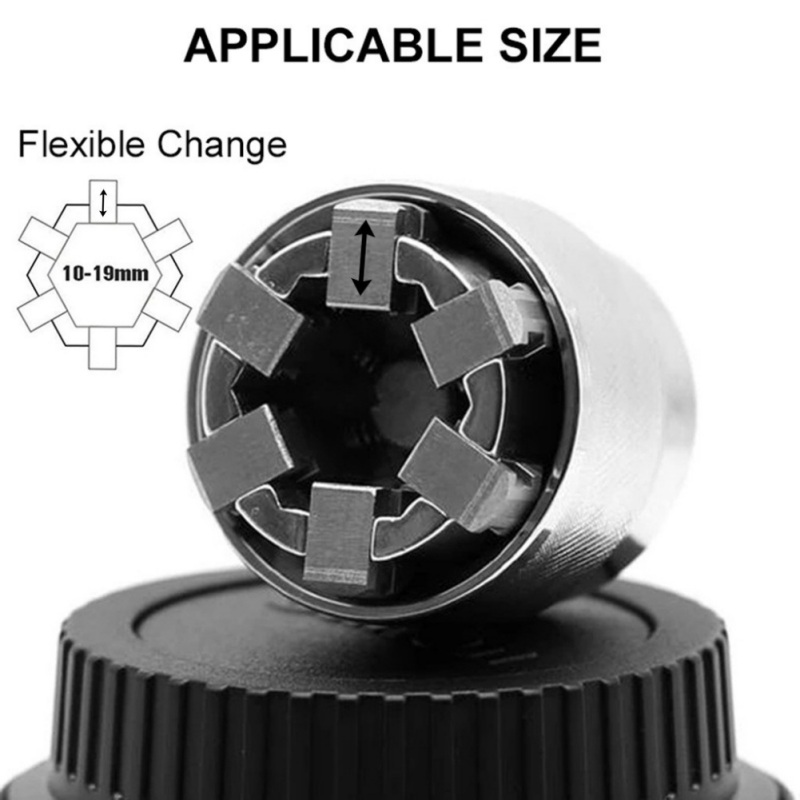 """Wrench Universal Socket Wrench Adaptive All Fitting Multi Drill Attachment Adapter Socket Fits Any Standard 3/8"""" Drive Wrench