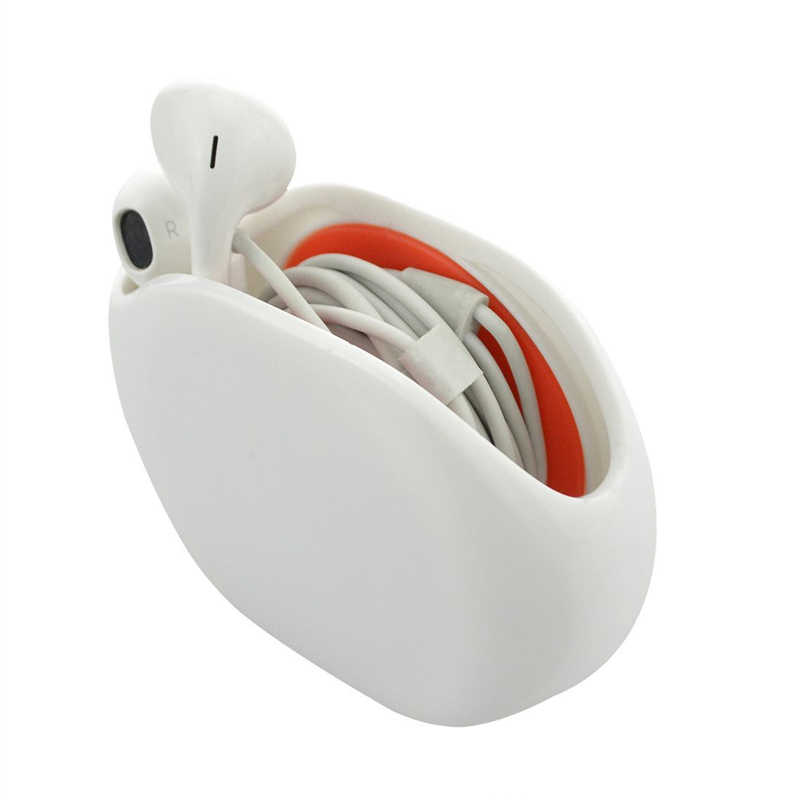 Chiusura automatica Cavo Cavo di Legare Organizzatore Argano della bobina di Smart Wrap per CAVO Delle Cuffie In Ear Auricolari 5 Colori Polvere- repellente