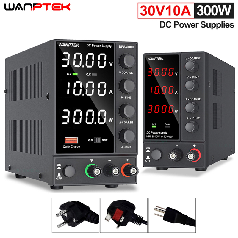 Wanptek USB Adjustable DC Source Power 30V 10A Lab Power Supply Unit 60V 5A Voltage Regulator Stabilizer Switching Power Supply