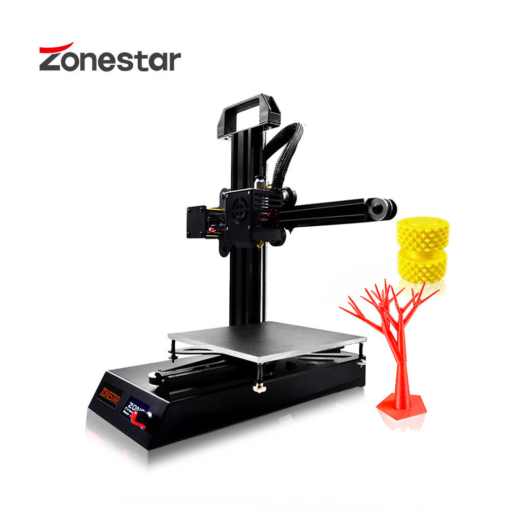 ZONESTAR Z6 Fast Install Cheap 3d Printer Price Pocket Mini Full Metal Aluminum Kit  Free Ship