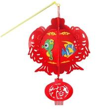 Детский мультяшный фонарь s DIY ручной работы китайский традиционный фонарь креативный животный узор фонарь s Материал посылка