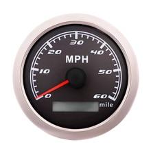 Спидометр импульсного сигнала, 85MM 30-120 миль / ч датчик скорости, Без антенны GPS, Подходит для лодок, морских яхт, мотоциклов