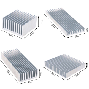 Aluminum Alloy Heatsink Cooling Pad For High Power LED IC Chip Cooler Radiator Heat Sink 4 sizes