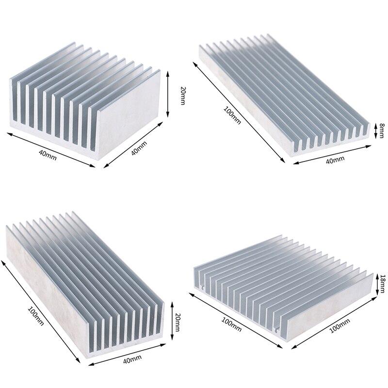 Горячая Алюминий сплава радиатора охлаждающая подставка для высокое Мощность светодиодный микросхема Радиатор Бесплатная доставка, 4 разм...
