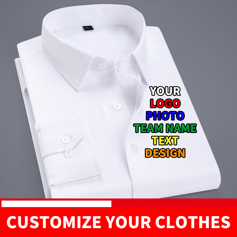 Diy Custom Logo Your Own Design Men's And Women's Shirts Custom Shirts Text Photo Team Printing Apparel Advertising
