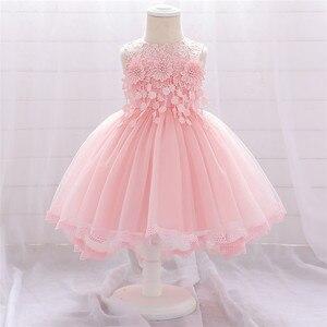 Cuentas para ropa de bebé niña, Vestidos de flores para niñas, vestido de princesa infantil, vestido de fiesta de primer año de cumpleaños para niña, vestido de boda para recién nacido