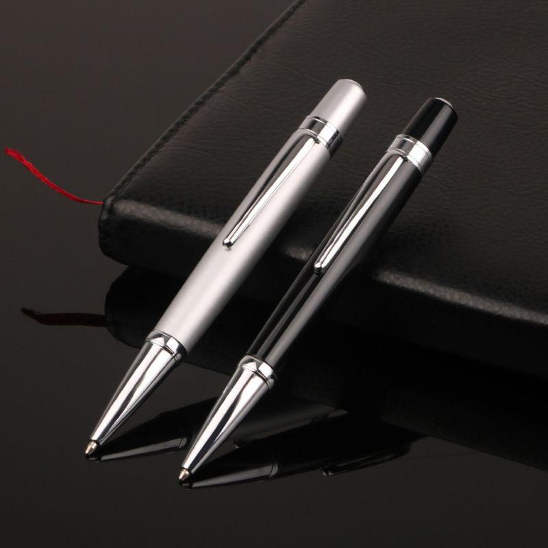 Luxury Mini Metal Ballpoint Pen Roller 1.0mm Black Ink Business School Supplies PXPA