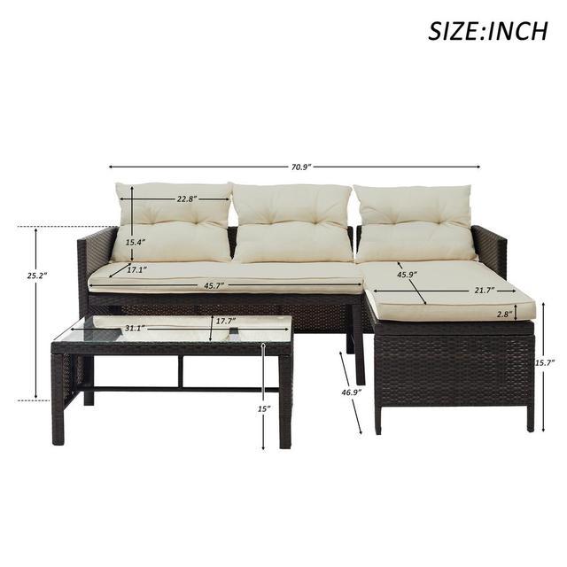 8 IN 1 Garden Rattan Sofa Furniture Set  2