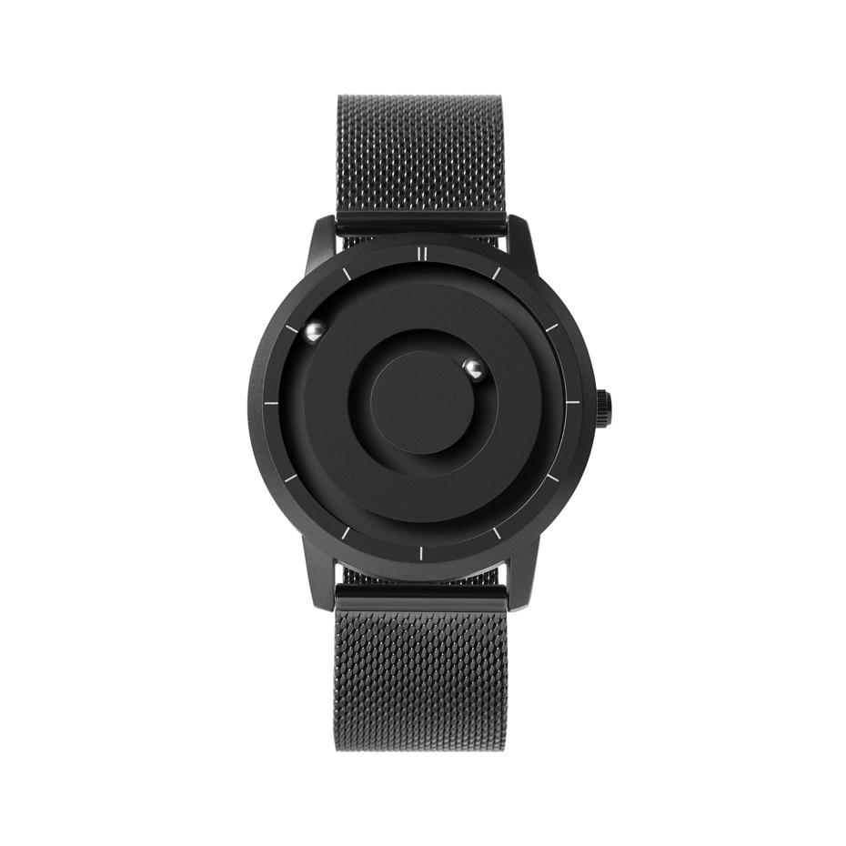 EUTOUR New Innovative Blue Gold Magnetic Metal Multifunctional Watch Men's Fashion Sports Quartz Watch Simple Men's Watch 18