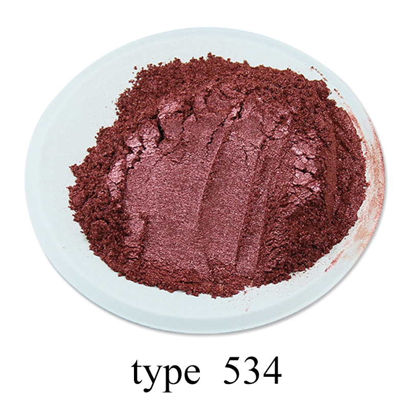 Type 534 Pigment Pearl Powder Healthy Natural Mineral Mica Dust DIY Dye Colorant 50g For Soap Automotive Eye Shadow Art Crafts
