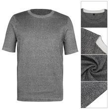 Koszulka ochronna na poziomie 5 odporna na przecięcie Anti Slash Stab koszulka z krótkim rękawem i okrągłym dekoltem tanie tanio CN (pochodzenie) Narzędzie i bezpieczeństwa Szybkie suche Mikrofibra tops Cut Resistant Clothing Unisex PE 5 cut-resistant fabric cut-resistant clothing