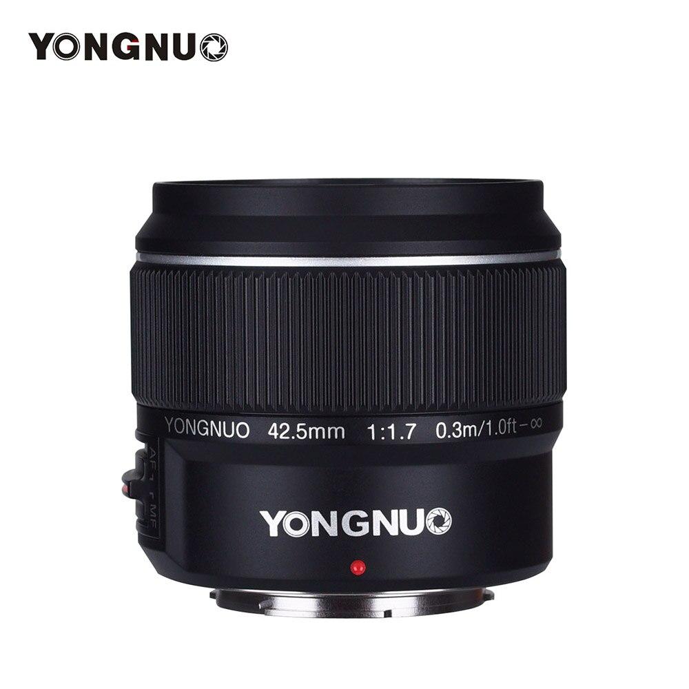 YONGNUO YN42.5mm F1.7M objectif AF MF à grande ouverture objectif Standard pour Olympus E-M5 Mark II III E-PL9 PEN-F