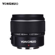 Yongnuo yn42.5mm f1.7m 대형 조리개 af mf 렌즈 표준 프라임 렌즈 olympus E M5 mark ii iii E PL9 PEN F