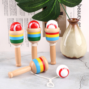 1pc Kendama Kid Toys Wooden Montessori Toy Kendama Ball Skillful Juggling Game Sword Cup Educational Toys Outdoor Leisure Sports(China)
