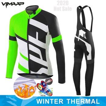 Nw inverno ciclismo roupas homem manga longa conjunto camisa de lã térmica maillot ciclismo bicicleta estrada manter quente equitação zíper completo 1