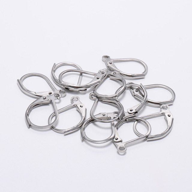 20pcs/lot Stainless Steel  Gold Korean Earrings For Women Base For Earrings Hooks For Jewelry Making Supplies DIY Findings