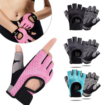 Gym Fitness Gloves Power Weight Lifting Women Men  Workout Bodybuilding Half Finger Hand Protector Cycling Gloves oem gym weight lifting leather xrossfit training barbell pull up hand grip workout sport bodybuilding fitness hand gloves
