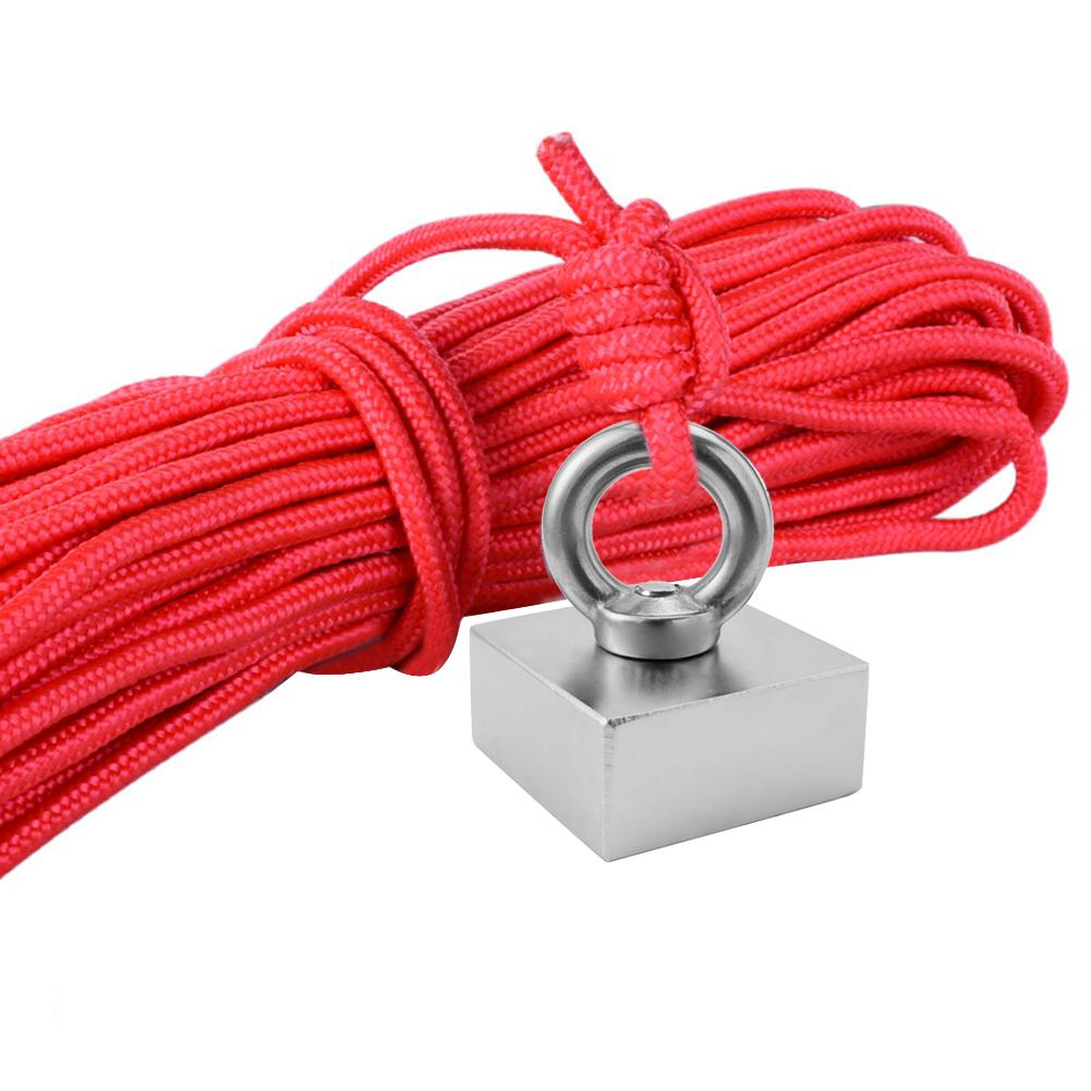 Neodymium Magnet <font><b>50</b></font> Kg--<font><b>80</b></font> Kg Pull Super Strong Magnet Salvage Fishing Permanent Magnetic Durability Gift 10 Meters Rope image