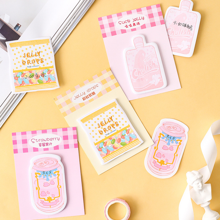 30pcs/pack Kawaii Can Milk Cup Series Sticky Notes Planpad For Study Memo Pad Note Fashion Planner Stickers Office Accessories