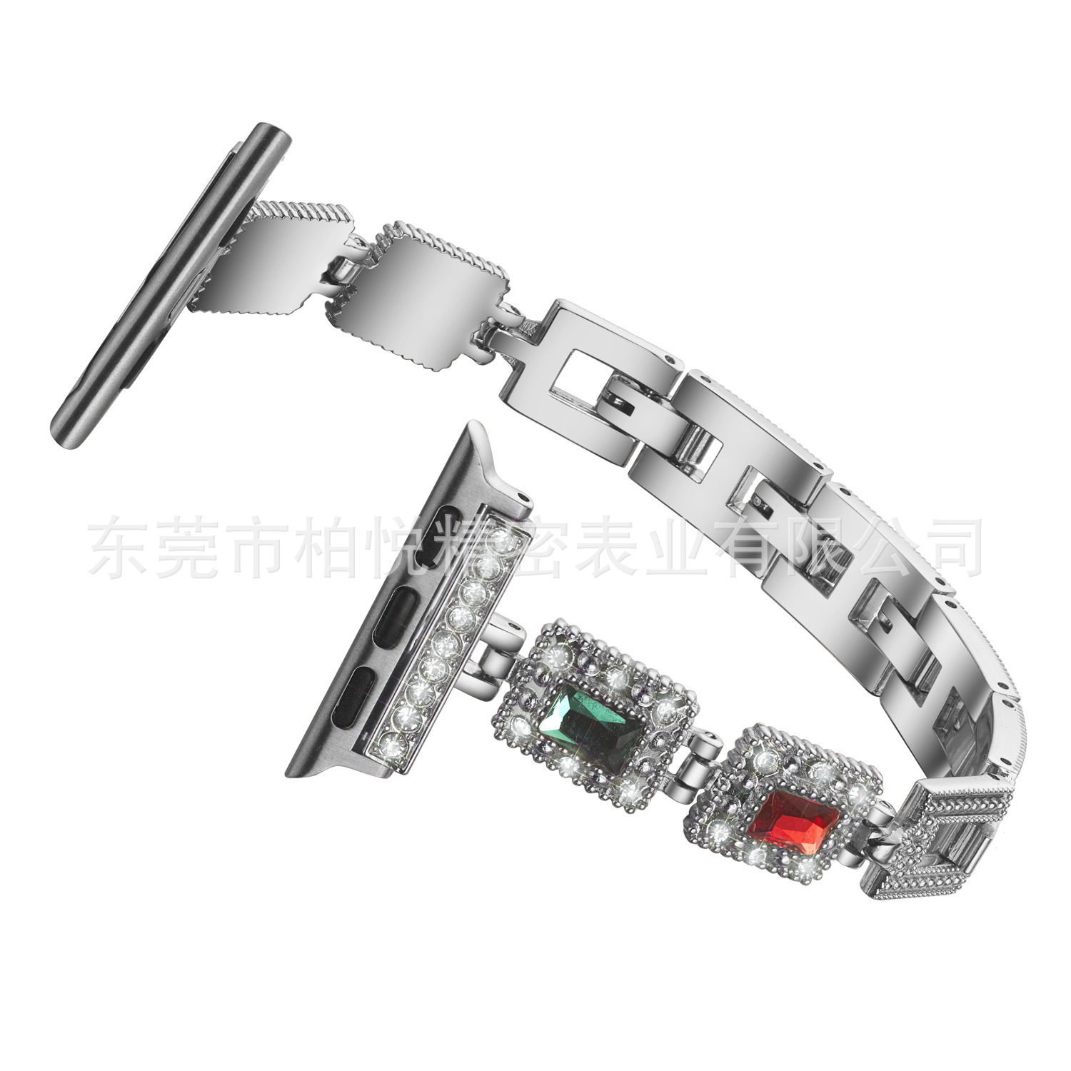 Suitable For Apple Watch Strap APPLE Watch5vo Diamond Set Stainless Steel Metal Watch Band IWatch