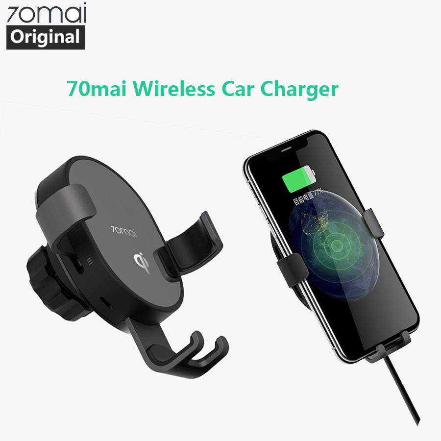 Original 70mai Universal Car Bracket Wireless Car Charger 70 Mai Fast Charging Holder IPhone Xs Max XR Samsung Mobile Stand Moun