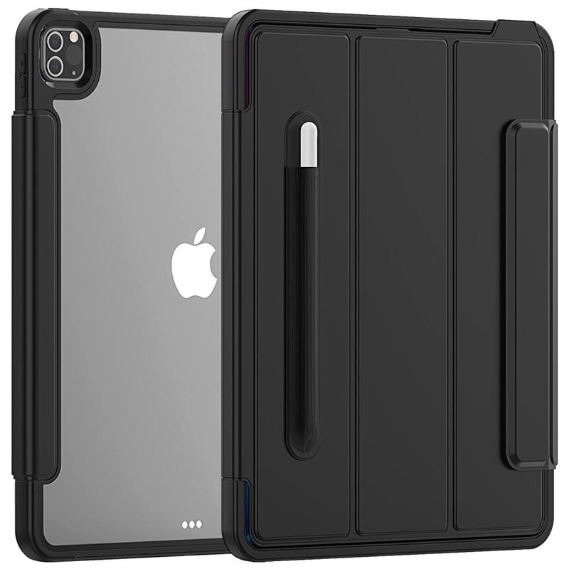 Black Black Full Protection Case For apple iPad Pro 12 9 2020 Kids Safe Shockproof Heavy Duty TPU