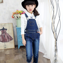 Kids Overalls for Girls Denim Jumpsuit Children Jeans Spring Autumn Girls Jeans Pants Kid Casual Cowboy Trousers girls denim pants high quality spring kid clothing autumn girl trousers fall children jeans pants leggings heart pattern jeans