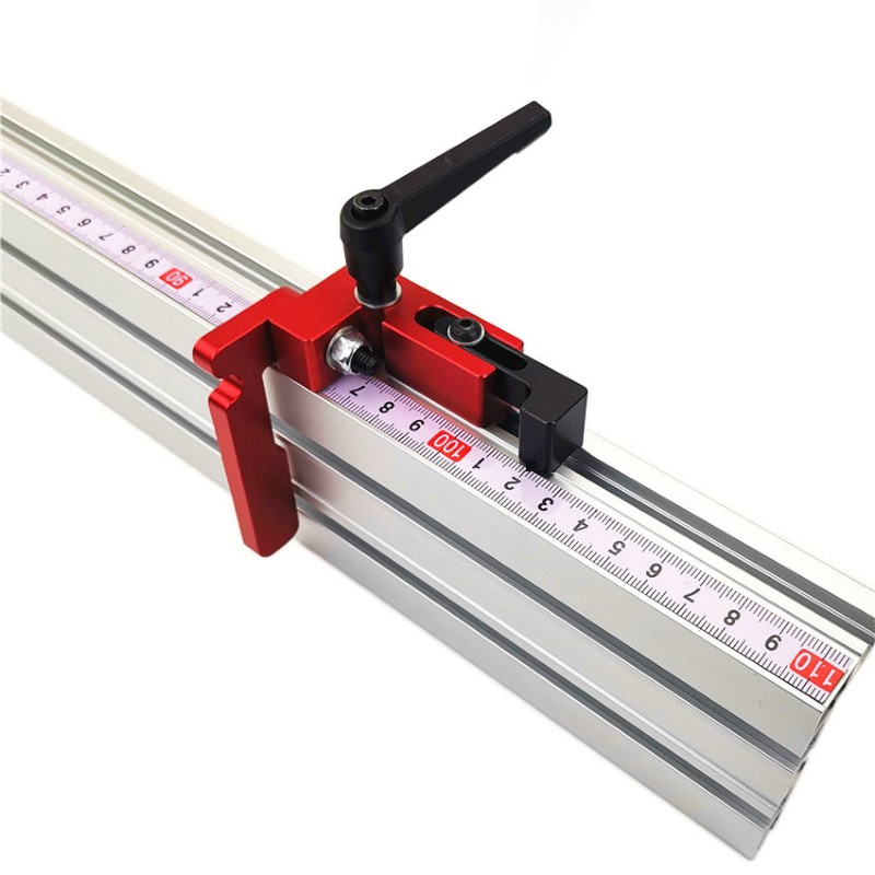 Miter Gauge Table Saw Aluminium Profile 75mm Height T-tracks Stopper