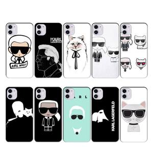 Lagerfeld Brand designer KARLs case coque fundas for iphone 11 PRO MAX X XS XR 4S 5S 6S 7 8 PLUS SE 2020 cases cover(China)