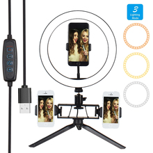 6/8/10 Inch Photography Video Light LED Ring Lamp Youtube VK Live 3500-5500k Photo Studio Make Up Light For Phone