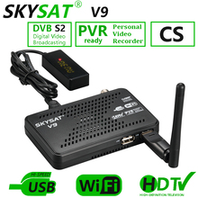SKYSAT V9 Mini HD Satellite Receiver support CCCamd Cline Newcamd Powervu Biss WiFi 3G Youtube mini DVBS2 Receptor Set Top Box