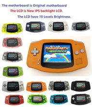 Consola GBA reacondicionada profesionalmente, consola Game Boy con retroiluminación iPS, pantalla LCD, 10 niveles de brillo