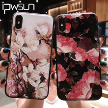 iPWSOO Relief Flower Leaf Phone Case For iPhone 11 Pro Max X XS Max XR Feather Case For iPhone 6 6s 7 8 Plus Soft TPU Back Cover