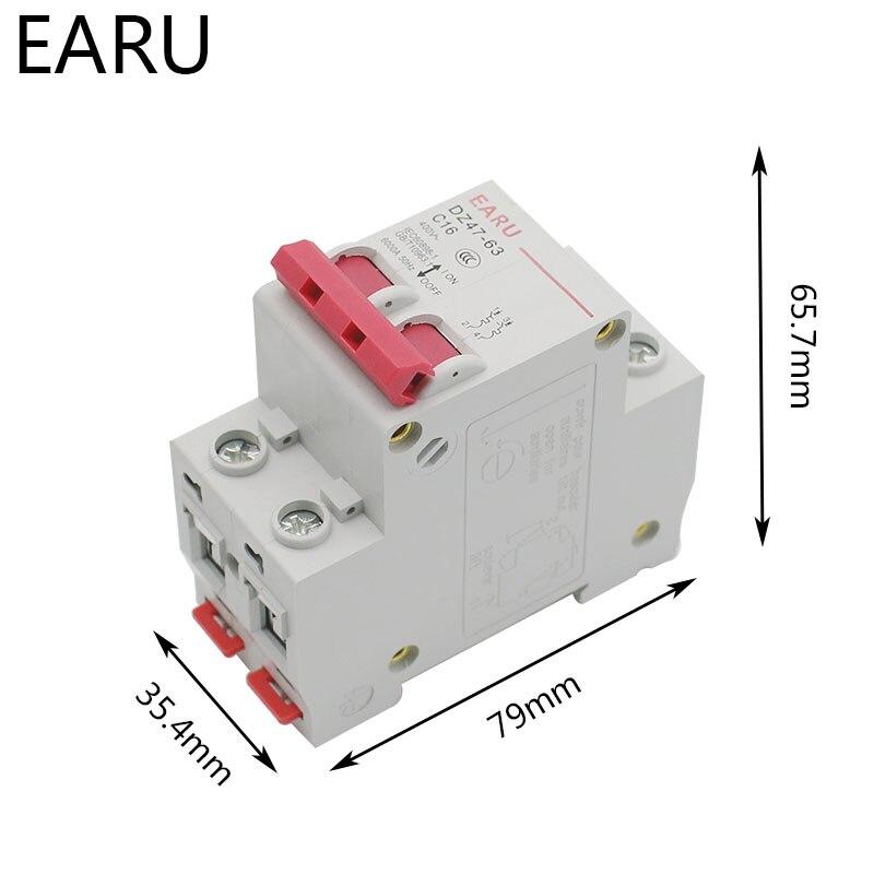 H733981f2d71b4ba3baa4e3c2796be1ees - C45N 2 Pole 3A/6A/10A/16A/20A/32A/40A/50A/63A 400V~ C Type Mini Circuit Breaker Mcb Mounting 35mm Din Rail Breaking Capacity 6KA