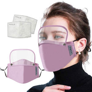 Face-Mask FILTER Detachable Eye-Shield Dust-Proof Adults Outdoor Cotton with And Unisex