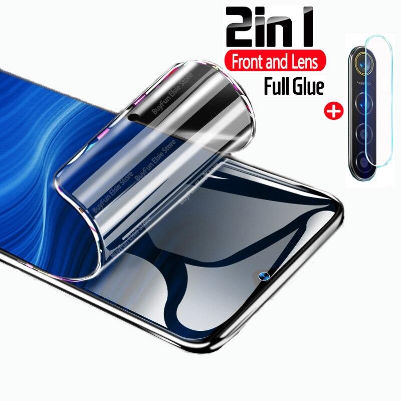 Гидрогелевая пленка 2 в 1 для Oppo Realme 5 pro, защитная пленка для объектива камеры, защитная пленка для Oppo Relme Realme5 pro Realme 5pro|Защитные стёкла и плёнки|   | АлиЭкспресс