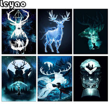 5D Diy Diamond Painting Animal Deer eagle Full Square Cross Stitch Diamond Embroidery Harry Round Drill Home Decor Needlework