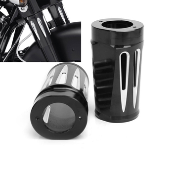 Motorcycle Edge Cut Billet Fork Boot Sliders Cover Cow RSD For Harley Touring 2014 to 2016