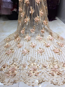 Newest African Tulle Lace Fabric With Stones Embroidery Mesh Net Lace African French Lace High Quality With Beads Wedding KH9048