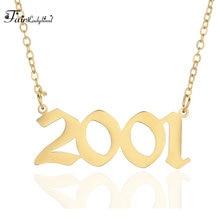 Número do Ano FairLadyHood Personalizado Colares para As Mulheres Homens Feitos Sob Encomenda do Ano 1994 1995 1996 1997 1998 1999 2000 Presente de Aniversário
