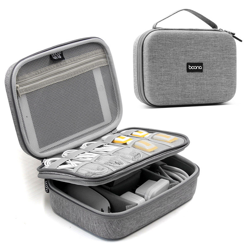 Portable Digital Storage Bags Charger Power Gadgets Cables Wires Organizer USB Case Accessories Item Battery Zipper CosmeticBag