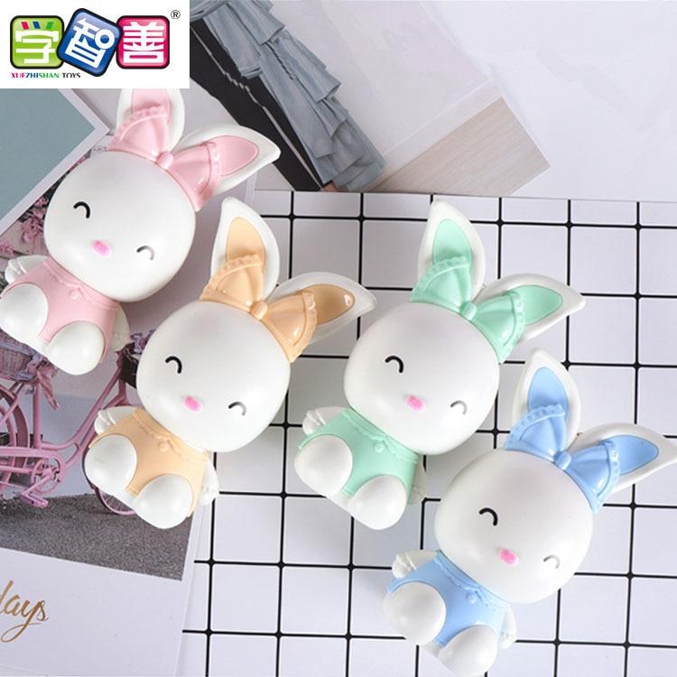Summer Day New Style Fan Cartoon Rabbit Rechargeable Fan Portable Hand-Held Mini Children Students White Collar Fan